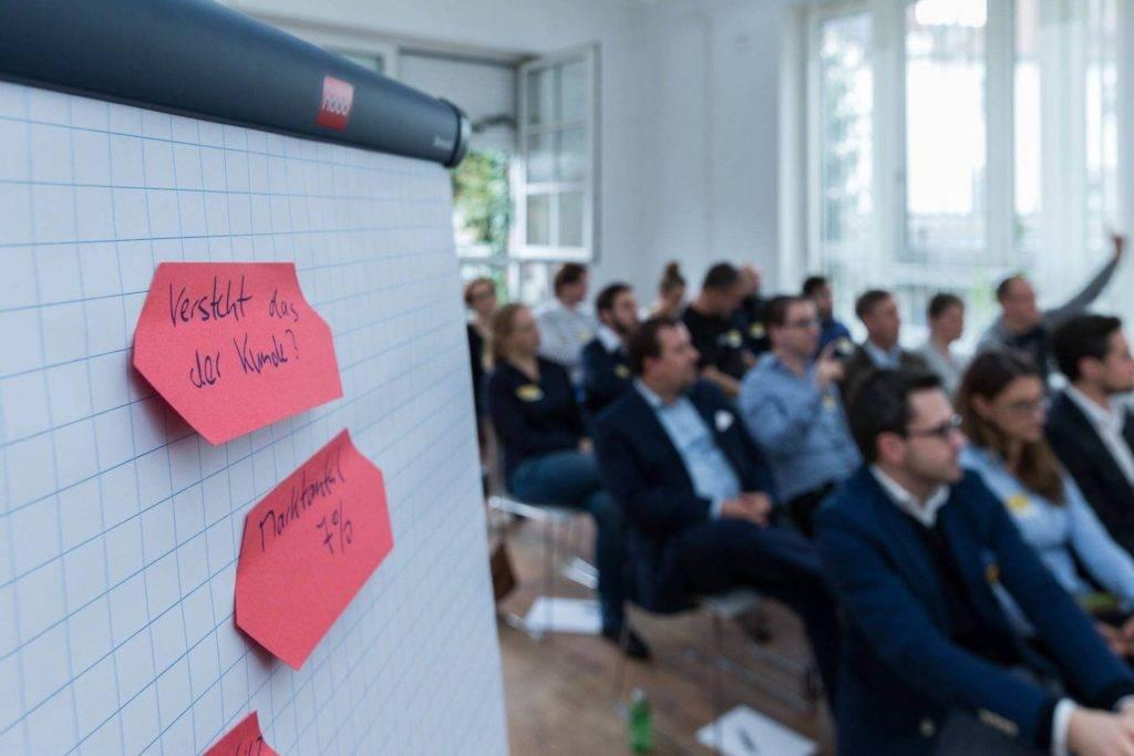 Volle Hütte bei der Session von comdirect CEO Arno Walter.