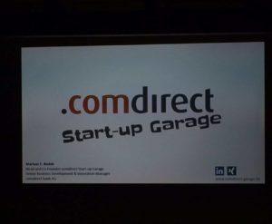 Comdirect Startup Garage