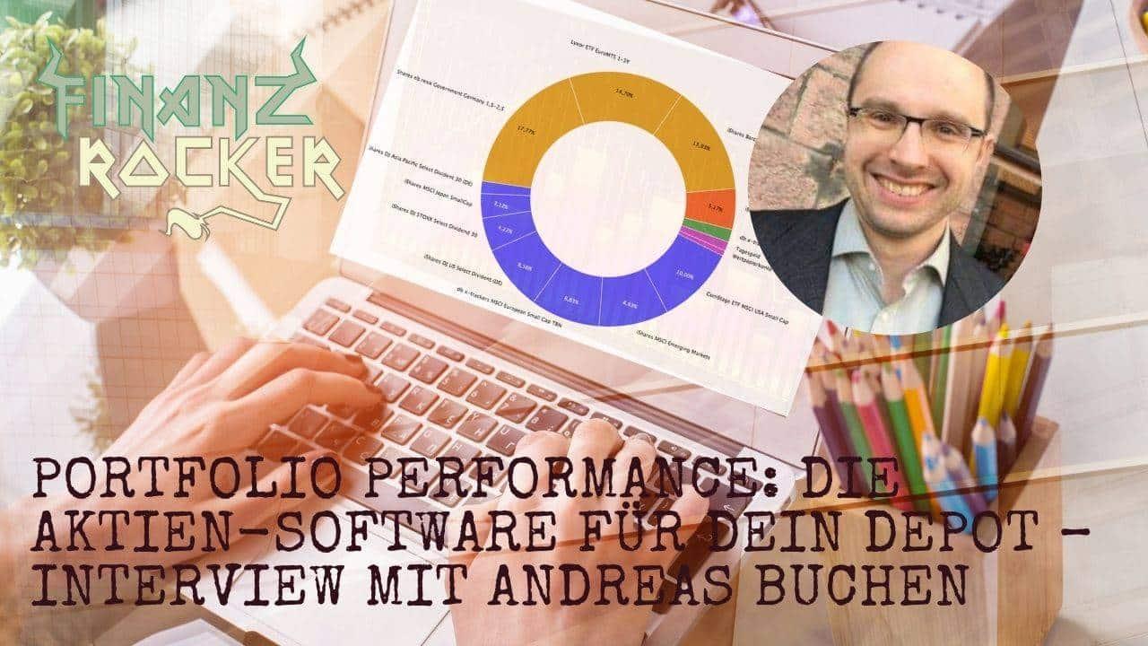 Portfolio Performance Andreas Buchen - Bild von Laptop und Person die daran arbeitet
