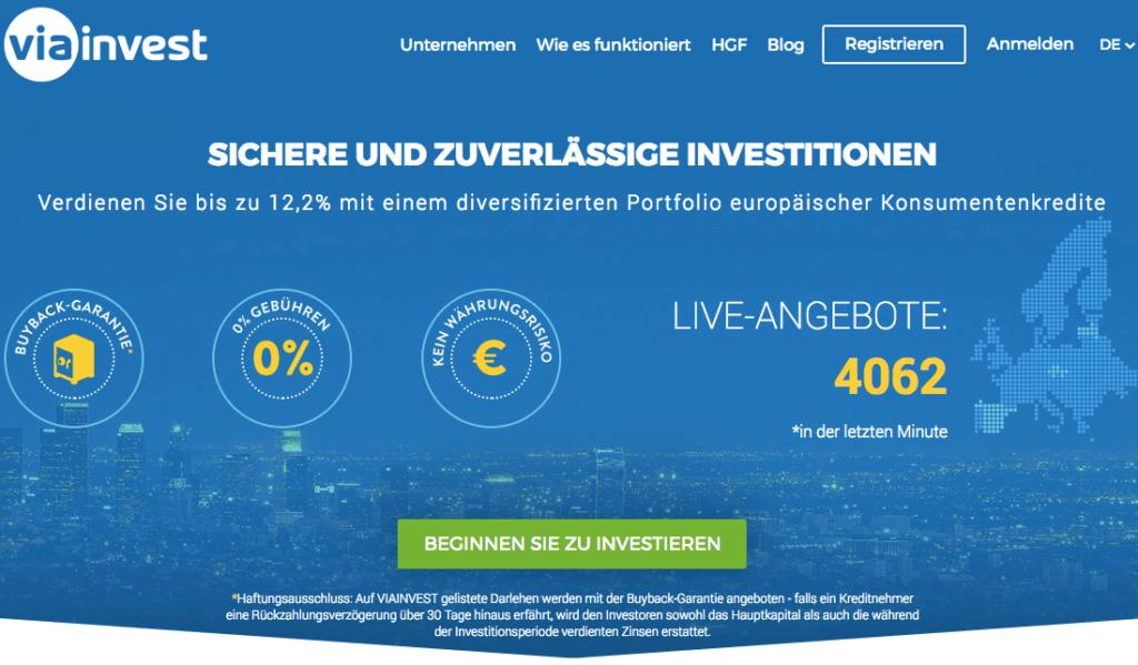 P2P-Kredite Viainvest