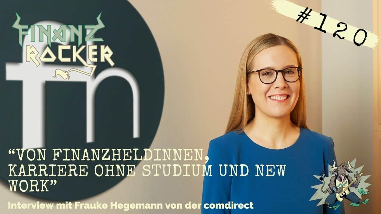 Finanzheldinnen Bild von Frauke Hegemann vor Logo