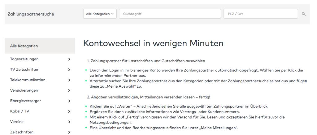 comdirect Kontowechsel Anleitung im Überblick