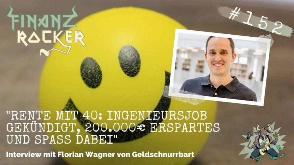 Geldschnurrbart Florian Wagner - Rente mit 40